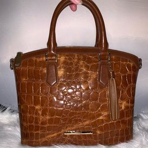 Brahmin Duxbury  Embossed-Leather Satchel